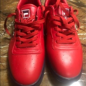 EUC Red Filas men's size 12